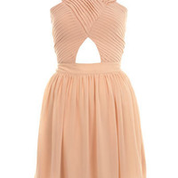 Pleat Bodice Cut Out Dress - Going Out - Miss Selfridge