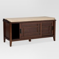 Luther Entryway Bench Brown - Threshold™