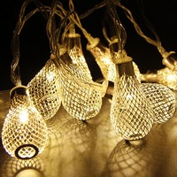 2M Elegant Drops 20lights LED String Light Warm White AA Battery new year fairy lights home indoor decoration christmas lights