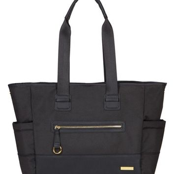 Skip Hop Chelsea 2-In-1 Downtown Chic Baby Diaper Bag Tote with Changing Pad Black