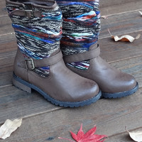 Aspen Yarn Brown Boots