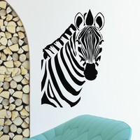 Wall Decal Vinyl Sticker Wild Animal Zebra Decor Sb458