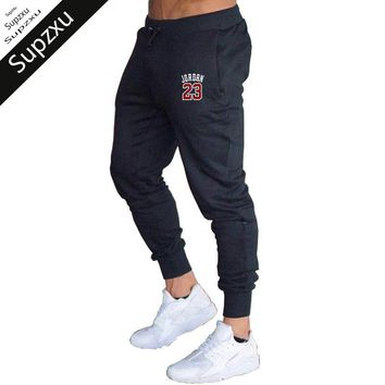 Supzxu Mens Fitness Joggers Track Pants Men cotton Trousers Hip Hop Casual Pants 2018 Autumn/Winter fashion jordan 23 sweatpants