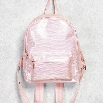 Sequin Zip Backpack