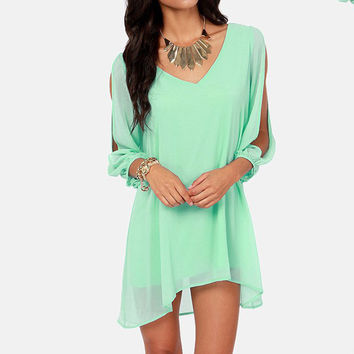 2015 New Summer Chiffon Short Dress Women Loose Sexy V Neck Strapless A-line Casual Mini Shirt Dress White Beach Dresses