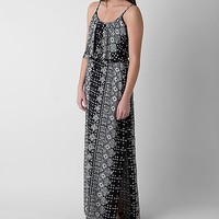 Women's Printed Maxi Dress in Black by Daytrip.
