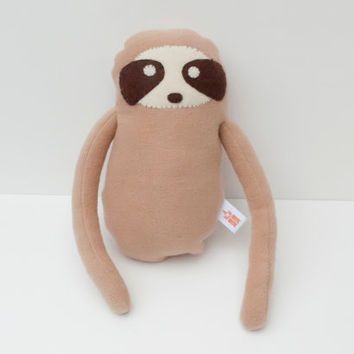 Sloth Stuffed Animal, Sloth Plushie, Sloth Stuffed Toy, Stuffed Sloth, Sloth doll, Fleece Stuffed Animal, Fleece Sloth,