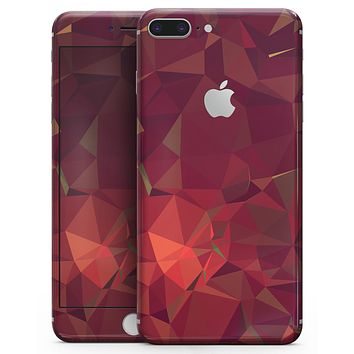 Red Geometric V2 - Skin-kit for the iPhone 8 or 8 Plus