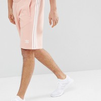 adidas Originals adicolor 3-Stripe Shorts In Pink CW2440 at asos.com