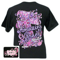 Girlie Girl Originals Amazing Grace Cross Christian Bright T Shirt