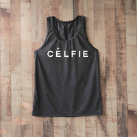 Celfie Shirt Tank Top Racerback Racer back T Shirt Top – Size S M L