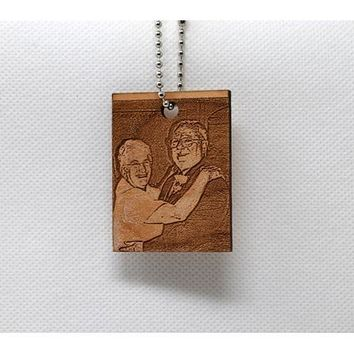 Keychain Rectangle Shaped Custom Photo KC-003 Laser Cut Custom