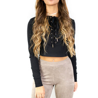 Graceland Black Knit Top