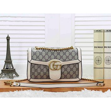 Gucci Women Shopping Bag Leather Chain Crossbody Shoulder Bag Satchel (5- colors)