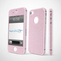 Bestgoods — Nice Sparking Rhinestone Full Body Cover Skin Sticker Shield For iPhone 4/4S/5