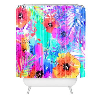 Holly Sharpe Hawaiian Heat Shower Curtain
