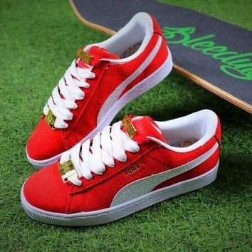 CREYNW6 Puma Suede Classic BBOY Fabulous 50th Red White Shoes