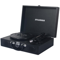 Sylvania Pc Encoding Usb Suitcase Turntable With Speaker