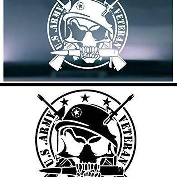United States Army Veteran (Skull and Guns) Vinyl Graphic Decal