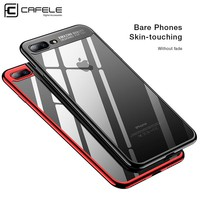 Cafele TPU Phone Case for iPhone 8 Plus Case Soft Plating Phone Cover for iPhone 8 Transparent