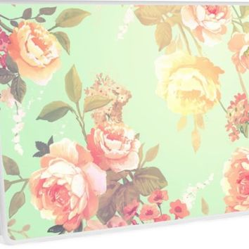'Sunny chic floral pattern' Laptop Skin by printapix