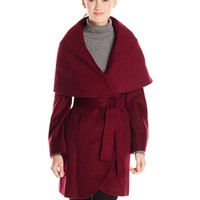 T Tahari Women's Marla Wool Wrap Coat