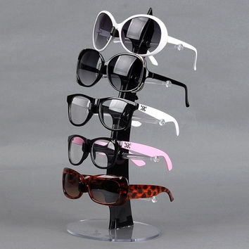 For 5 Pair Of Eyeglasses Sunglasses Glasses Sale Show Display Stand Holder Black