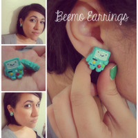 Beemo from Adventure Time Earrings by Vernorexia on Etsy