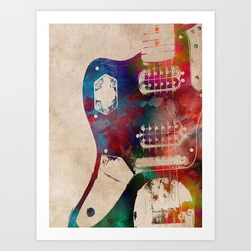 guitar art 1 Art Print by jbjart