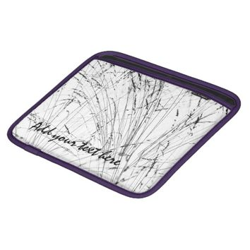 Winter Grass In Snow iPad Sleeve