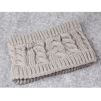 Twisted Knitted Yarn Empty Hat Women Winter Fashion  Headbands