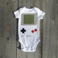 Nintendo Gameboy Baby Clothes by TheWishingElephant on Etsy