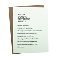 Best Friends Things Card