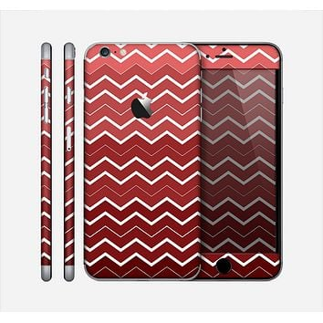 The Red Gradient Layered Chevron Skin for the Apple iPhone 6 Plus