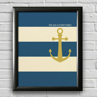 Nautical Print, Anchor Print, Sailing Print, Beach House Decor, Bedroom Wall Art, Nautical Print, Inspirational Print, Typography Poster