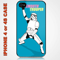 Funny Storm Trooper Star Wars Custom iPhone 4 or 4S Case Cover