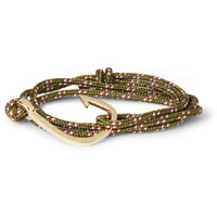 Miansai Woven-Cord and Metal Hook Wrap Bracelet | MR PORTER