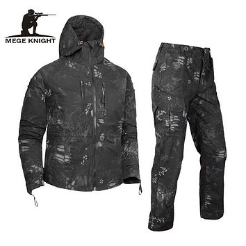Military Clothing Tactical Camouflage Suit Set Army Hooded Jacket and Pants Combat Military Uniform