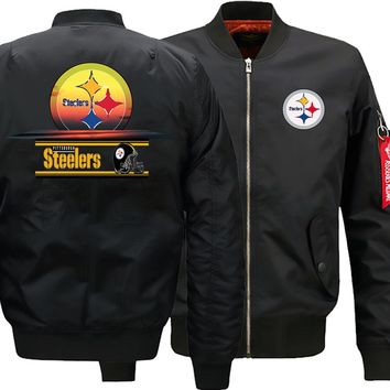 Pittsburgh Steelers Ma-1 Bomber Jacket | Flight Bomber Jacket (2 Colors)