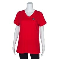Georgia Ladies V-Neck Shirt | UGA Ladies V-Neck Shirt | Georgia Bulldogs V-Neck Shirt
