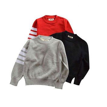 Casual O-Neck Long Sleeve Toddler Kids Sweater