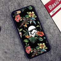 floral Star Wars Printed Soft TPU Skin Cell Phone Cases For iPhone 6 6S Plus 7 7 Plus 5 5S 5C SE 4 4S Back Cover Shell