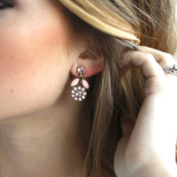 Spring Rain Earrings (Blush Pink)