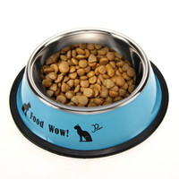 New Stainless Pet Feeding Bowl Steel Anti-skid Dog Cat Food Water Bowl Pet Feeding Drinking Bowls Pet's Supplies Tool