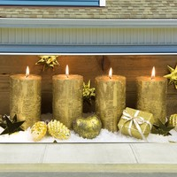 Christmas Garage Door Cover Banners 3d Holiday Outside Decorations Outdoor Decor for Garage Door G71