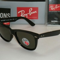 Ray Ban Wayfarer Black,Black Polarized Sunglasses RB2410