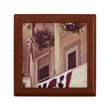 Patriotic Front Porch Tile Inlay Gift Box