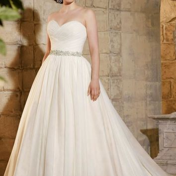 Julietta by Mori Lee 3182 Strapless Ball Gown Plus Size Wedding Dress