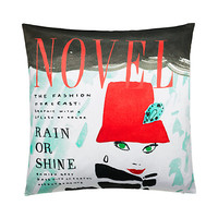 Kate Spade Silk Rain Or Shine Decorative Pillow Red Multi ONE