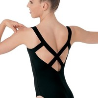 Low V Cross-Back Leotard